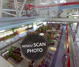 Rendu Photo du relevé scanner laser 3D