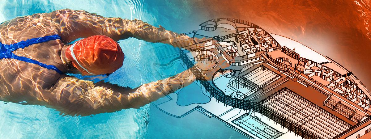 Illustration Maquette Numérique 3D Centre Aquatique Aqua Malo
