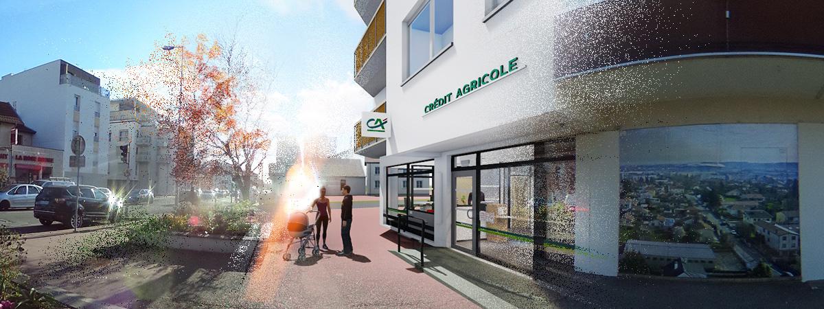 Extrait Vidéo 3D Façade Banque Crédit Agricole
