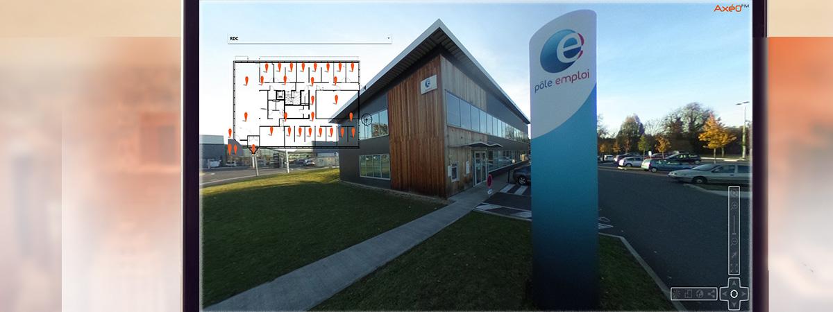 Capture écran Visite Virtuelle 360° Agence Pôle Emploi