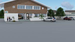 Extrait Vidéo 3D Façade Banque Crédit Agricole Hauteville