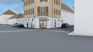 Extrait Vidéo 3D Façade Banque Crédit Agricole Avenières
