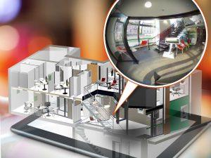 Illustration Maquette Numérique 3D avec zoom Photo 360°