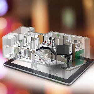 Maquette numérique 3D Agence Bancaire
