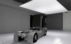 Maquette Numérique 3D Studio Photo XXL pour prise de vues des Camions Volvo