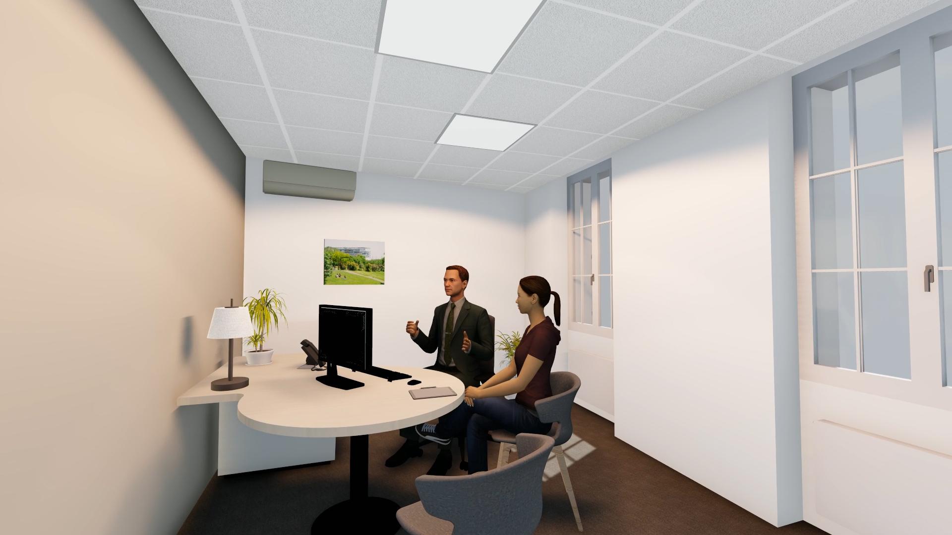 Extrait Vidéo 3D Espace de réception Banque Crédit Agricole