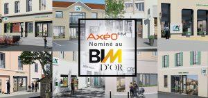 Pêle-mêle façades agences bancaires Crédit Agricole Nominé au BIM d'Or Maquette numérique 3D et vidéo 3D