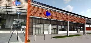 Relevé Scanner laser 3D et Maquette numérique 3D Galerie Marchande Carrefour Bourges