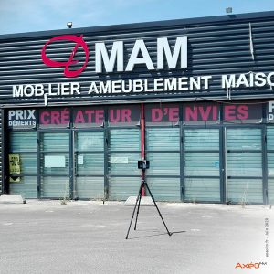 Relevé Scanner laser 3D Surface commerciale Agema
