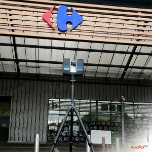 Relevé Scanner laser 3D Galerie Marchande Carrefour Bourges