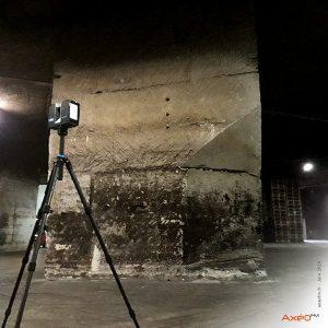Relevé Scanner laser 3D Carrière Site d'embouteillage Legendre Conveyors