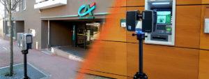 Relevé Scanner Laser 3D Façade et Automate Banque Crédit Agricole