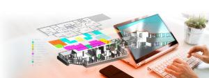 Plan 2D Maquette numérique 3D Agence Pôle Emploi