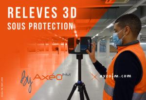 relevé Scanner laser 3D sous protection Opérateur Scanner avec masque