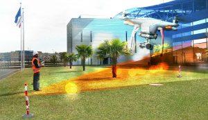 Relevé aérien par Drone, télépilote Axéo FM sur site Industriel